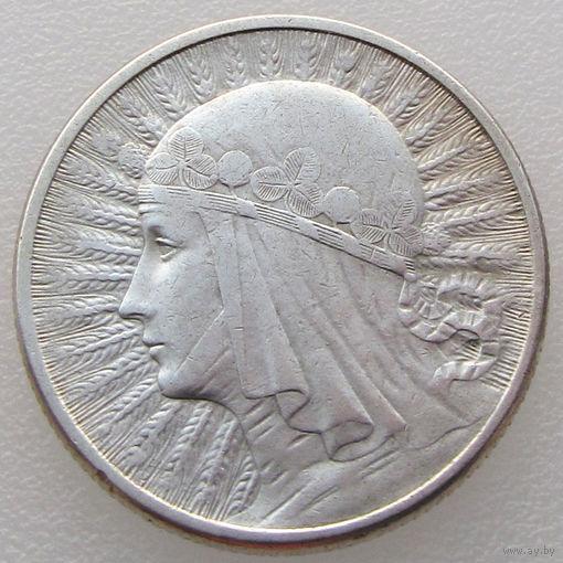 Польша, 2 злотых/ 2 Zlotych 1934 года, Ядвига, Y#20, серебро 750 пробы/ 4,4 г (2-я монета)