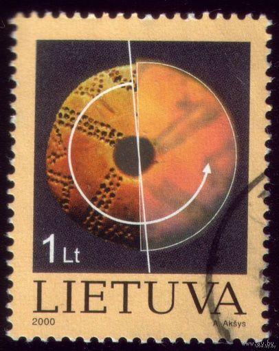 1 марка 2000 год Литва Круг
