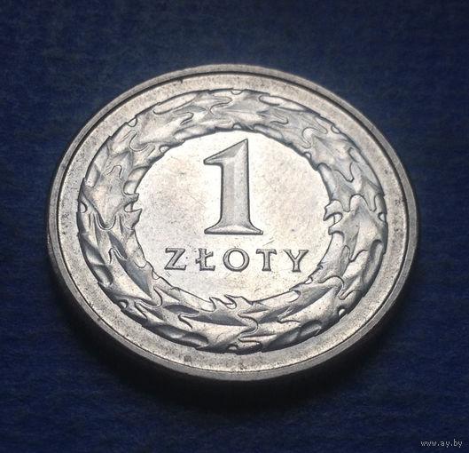 Польша 1 злотый 2017