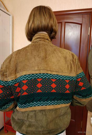 Куртка замшевая утепленная