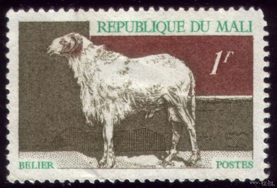 1 марка 1969 год Мали Овца