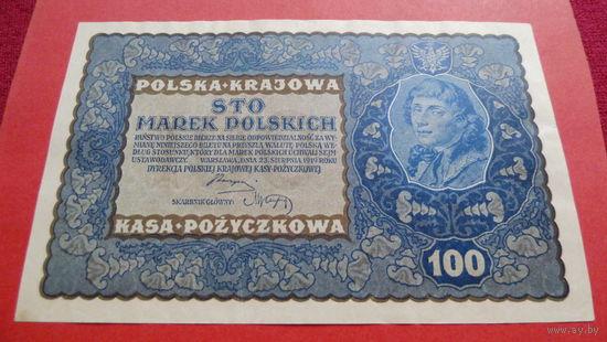 100 Марок -1919- IE серия_H - ПОЛЬША -*-практически идеальное состояние-