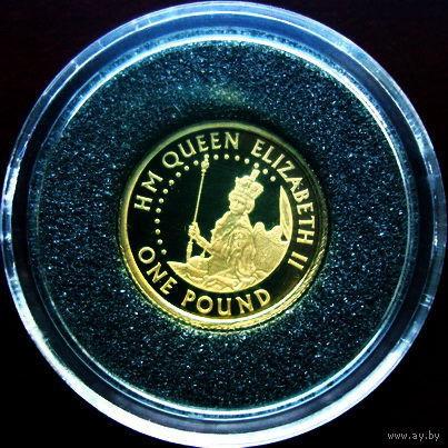 """Олдерни 1 фунт 2006 """"HM Queen Elizabeth II"""" золото 1,244 гр. (1/25 oz)"""