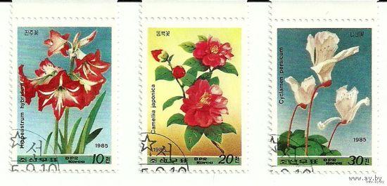 Флора. Цветы. КНДР 1985 г. (Корея)