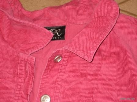 Розовая-штроксовая-внизу кармашики-рубашка р.50