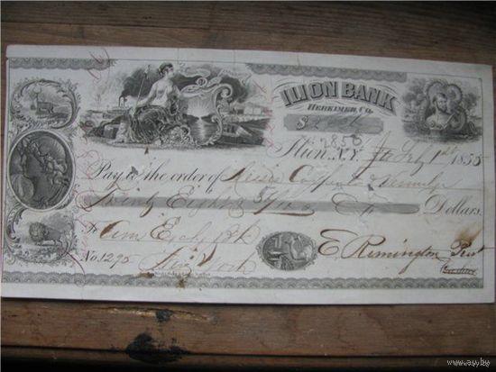 Автограф Ремингтон ружьё банковский чек