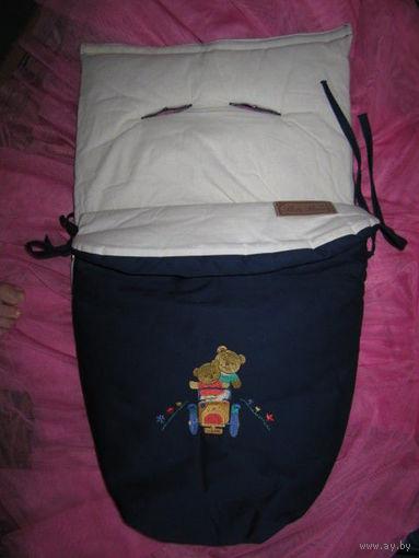 Конверт-вкладыш в санки или коляску, на толстом синтепоне