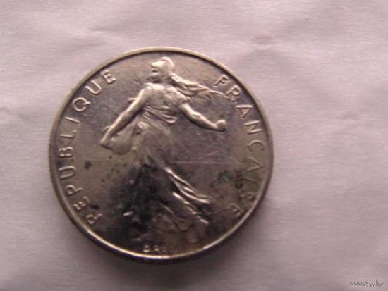 1\2 франка франции 1985г.  распродажа
