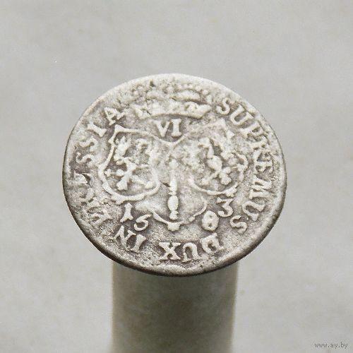 Пруссия 6 грошей 1683  Фридрих Вильгельм М.Д. Кролевиц