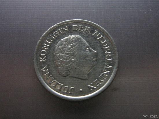 Нидерланды 25 центов 1975