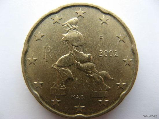 Италия 20 евроцентов 2002г.