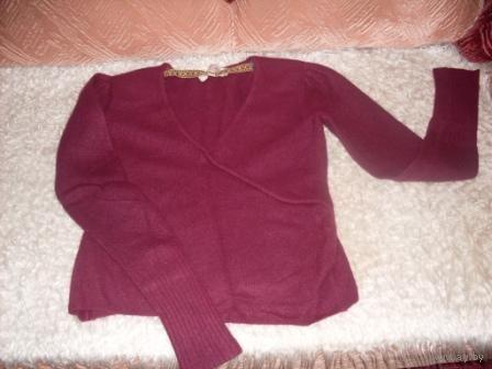 Кофта ангорская, бордового цвета