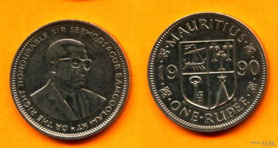 Маврикий 1 РУПИЯ 1990г.   распродажа