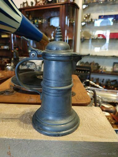 Лот с рубля - 159 Кувшин олово Германия клейма без Минималки Большой Аукцион!