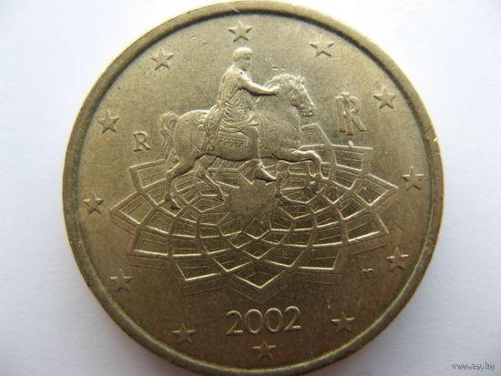 Италия 50 евроцентов 2002г.