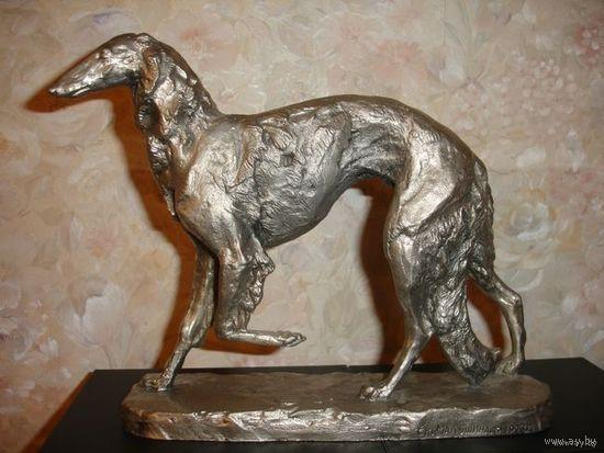 Металл литье Собака Борзая авторская 1973г