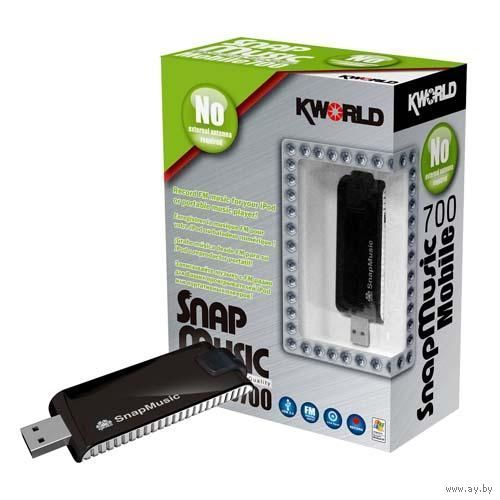 Устройство захвата звука SnapMusic USB Mobile 700 (FM700) FM-радио тюнер Kworld SnapMusic Mobile 700 для ПК, внешний, USB, OEM