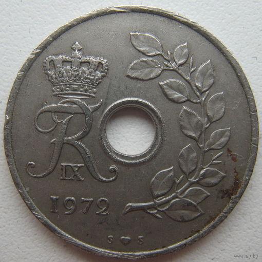 Дания 25 эре 1972 г.