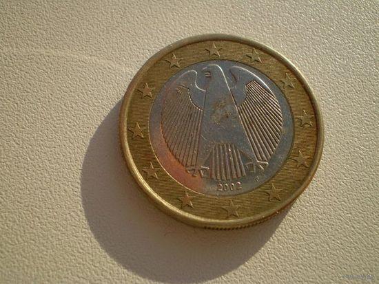 Германия 1 Евро 2002г.  F    распродажа