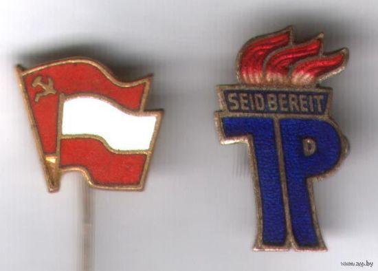 Знаки польский и ГДР. Тяжелые, эмаль