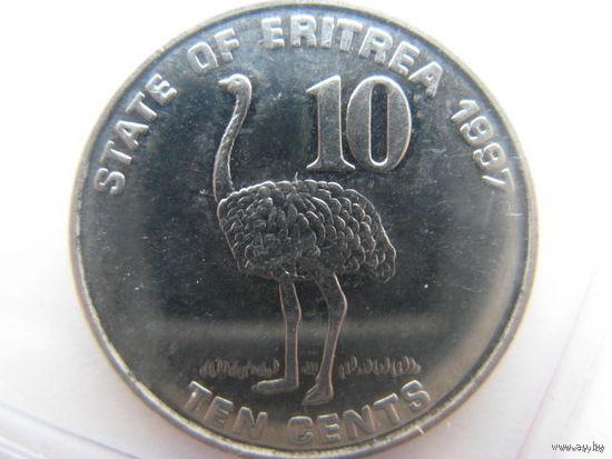 Эритрея 10 центов 1997 г.