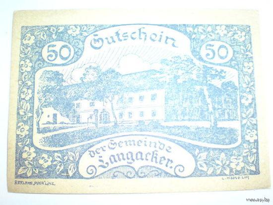 Австрия 50 геллер 1920г. нотхельд. распродажа