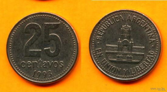 Аргентина 25 СЕНТАВО 1993г.  распродажа