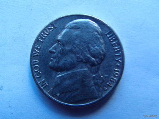 США 5 центов 1984г D.  распродажа