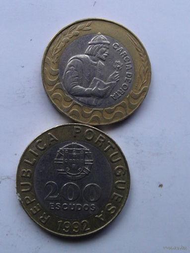 Португалия 200 эскудо 1992 г.  No1 распродажа