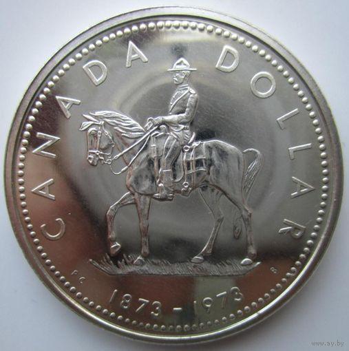 Канада. 1 доллар 1973. Серебро. 392