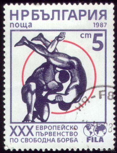 1 марка 1987 год Болгария Борьба