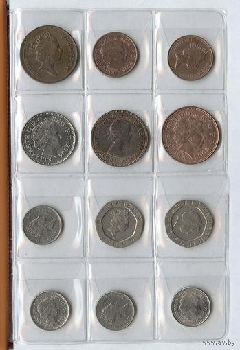 96 монет с альбомом (см. фото).