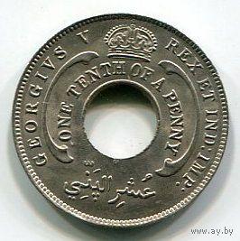БРИТАНСКАЯ ЗАПАДНАЯ АФРИКА - 1/10 ПЕННИ 1919 Н