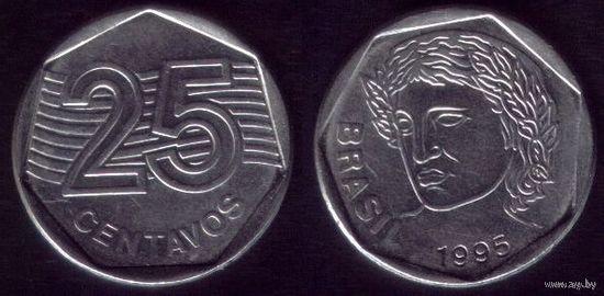 25 сентаво 1995 год Бразилия