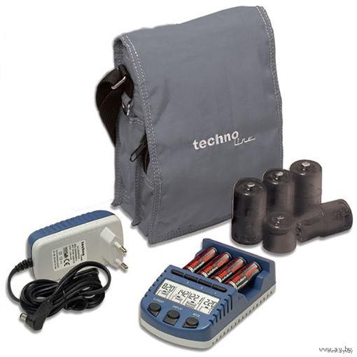 Интеллектуальное зарядное устройство Technoline BC-1000 (La Crosse BC-1000) для AA AAA + 4 аккумулятора Technoline AA NiMH 2500 mAh + переходники на C / D +  сумка