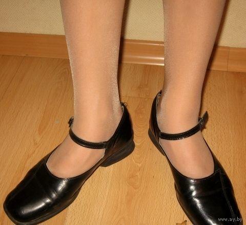 Туфли черные кожаные 36 рр, стелька кожа, 23,5 см стелька