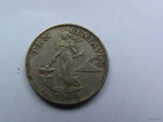 10 центаво 1964 год Филиппины    распродажа