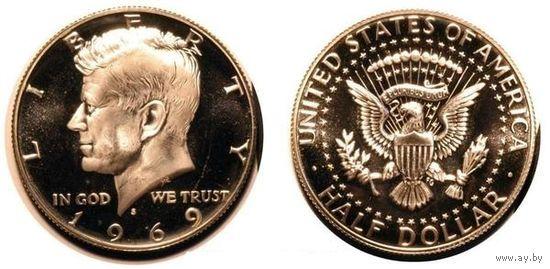 50 центов 1969 года Серебро