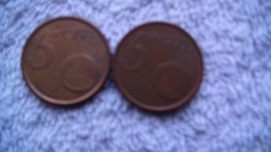 Испания 5 евроцентов 2000г.  распродажа