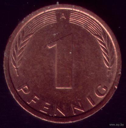 1 пфенниг 1991 год ФРГ А