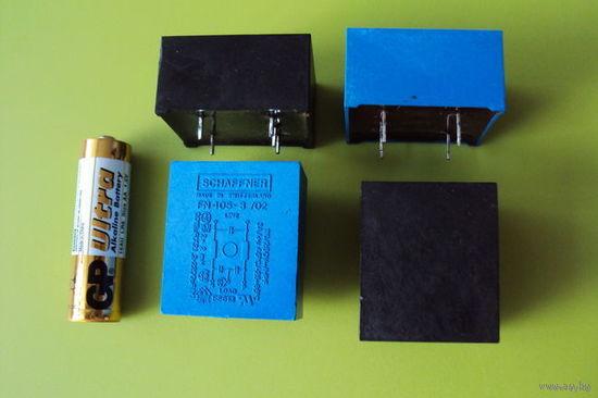 Сетевой фильтр подавления ЭМП    FN405-8/02  SCHAFFNER (Швейцария)  250V, 2x3A
