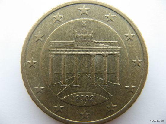Германия 50 евроцентов 2002г. (J)