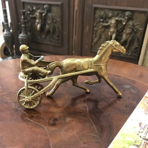 "БЕЗ М.Ц!Винтажная бронзовая статуэтка ""Конница"". Аукцион 3 дня!"