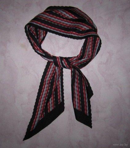 """Легкий оригинальный шарфик (кашне) """"Paris"""", гофрированный, с косым срезом"""