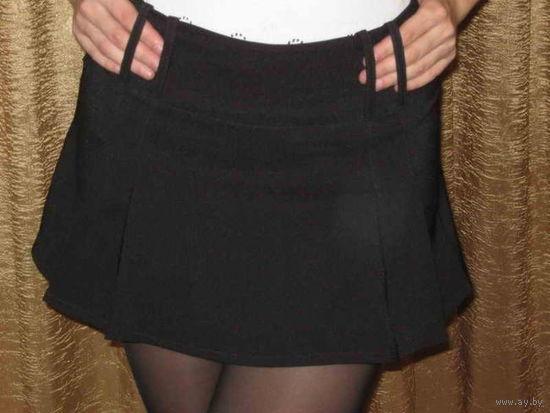 Мини-юбка женская черная