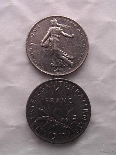1 франк франции 1977г.  распродажа 7