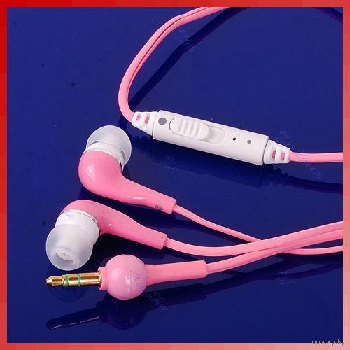 Оригинальные,стильные розовые наушники! А_К_Ц_И_Я!