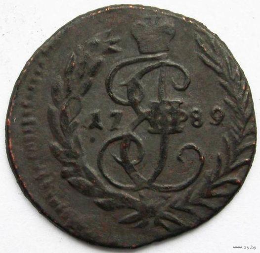 125 Полушка 1789 года. Московский МД.