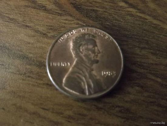 США 1 cent 1983