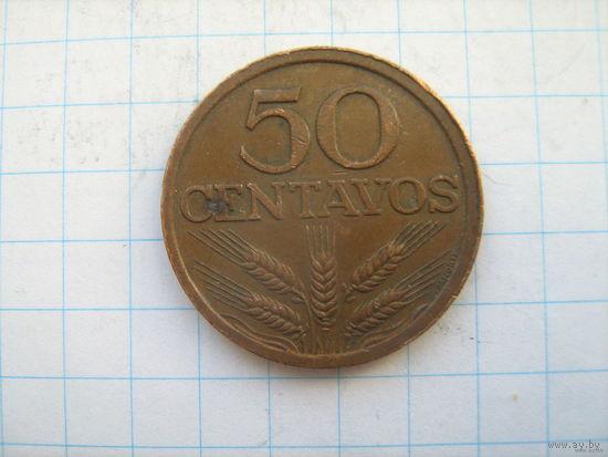 Португалия 50 центаво 1976г.